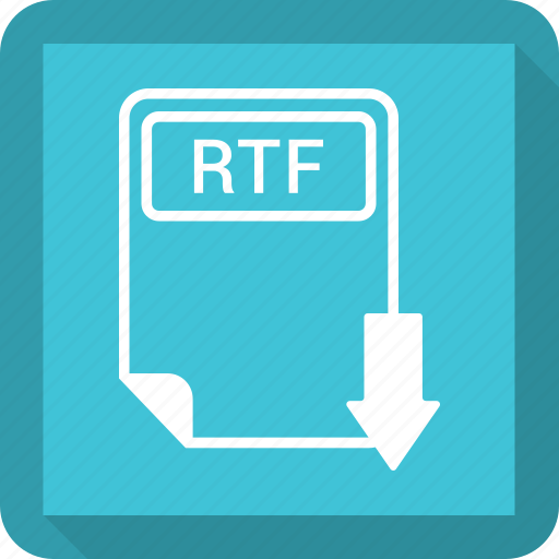 document, extension, file, format, paper, rtf, type icon