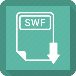 document, extension, file, format, paper, swf, type icon