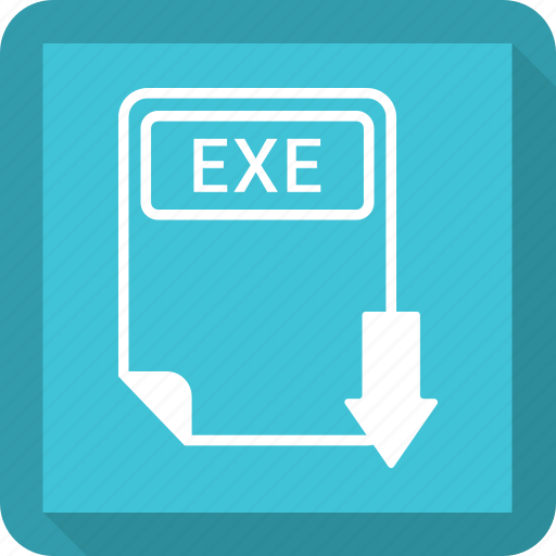 document, exe, extension, file, format, paper, type icon