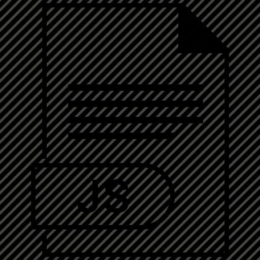 document, extension, folder, format, js, paper icon