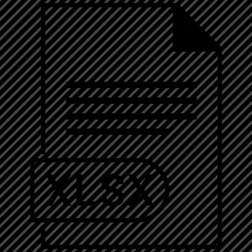 document, extension, folder, format, paper, xlsx icon
