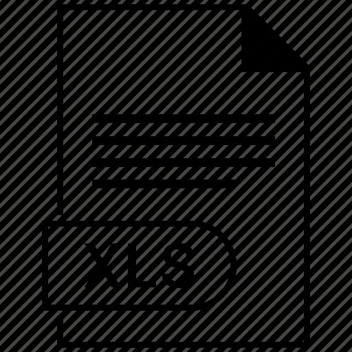 document, extension, folder, format, paper, xls icon