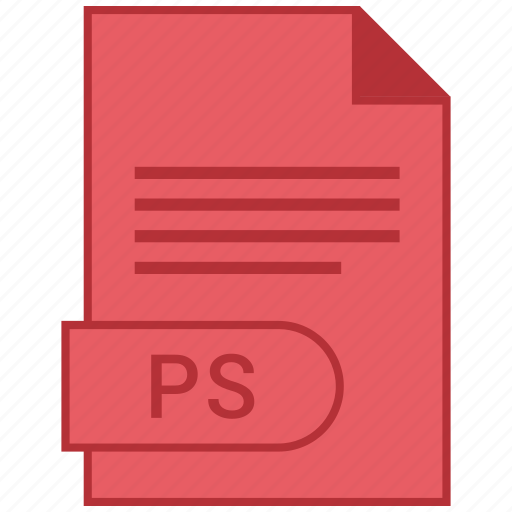 document, extension, folder, format, paper, ps icon