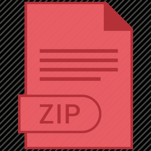 document, extension, folder, format, paper, zip icon