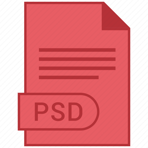 document, extension, folder, format, paper, psd icon