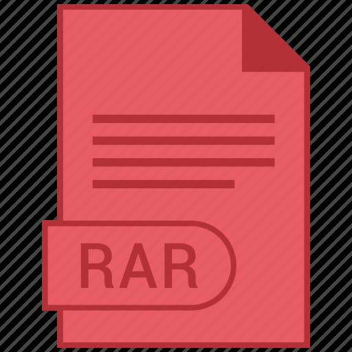 document, extension, folder, format, paper, rar icon