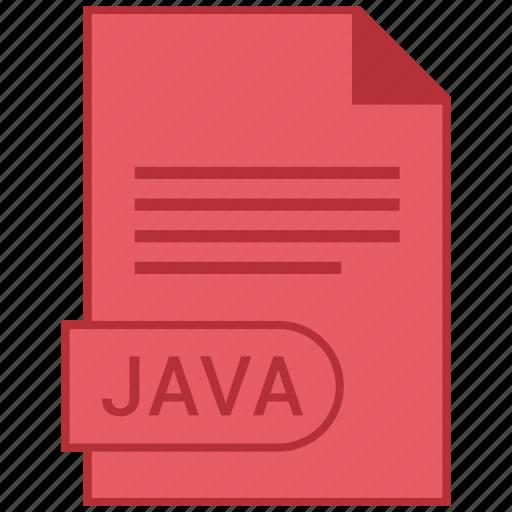 document, extension, folder, format, java, paper icon
