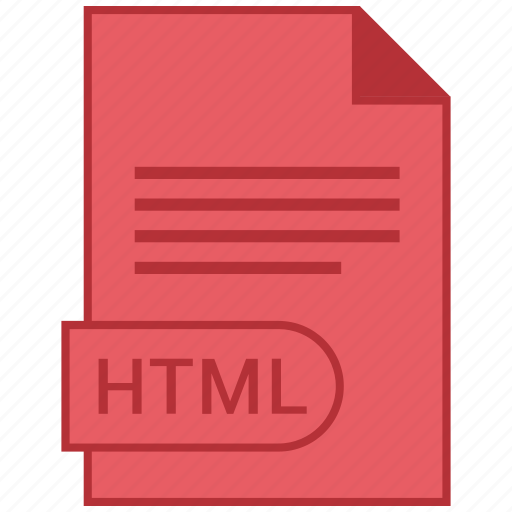 document, extension, folder, format, html, paper icon