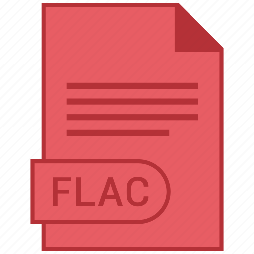 document, extension, flac, folder, format, paper icon
