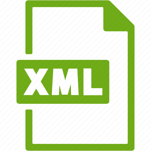 document, extension, file, format, xml icon