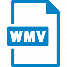 document, extension, file, format, wmv icon