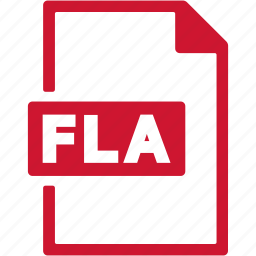 document, extension, file, fla, format icon