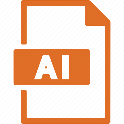 document, extension, file, file ai, format icon