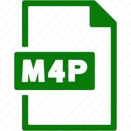 document, extension, file, format, m4p icon