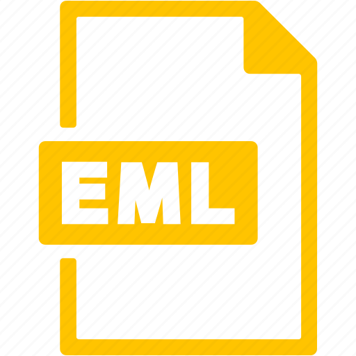 document, eml, extension, file, format icon