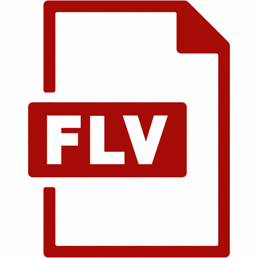 document, extension, file, flv, format icon