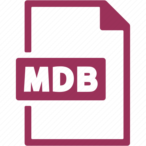 document, extension, file, format, mdb icon