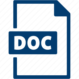 doc, document, extension, file, format icon