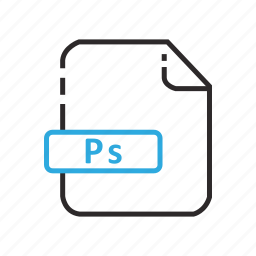 adobe, file, formats, photoshop icon