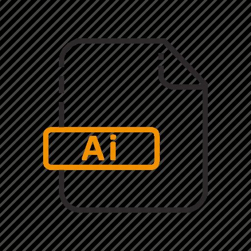 Adobe, file, formats, illustrator icon - Download on Iconfinder