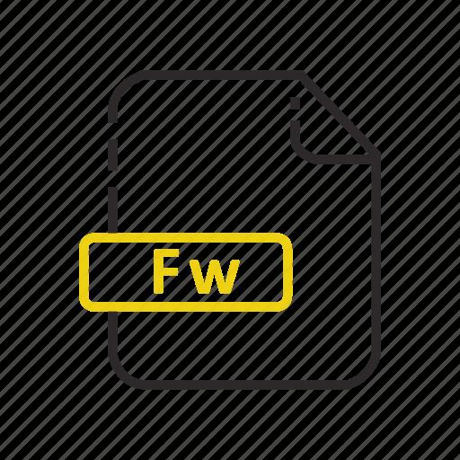 adobe, file, fireworks, formats icon
