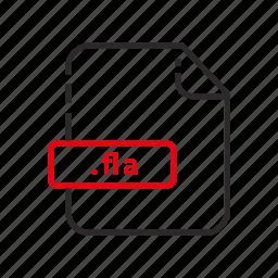 adobe, file, flash, formats icon