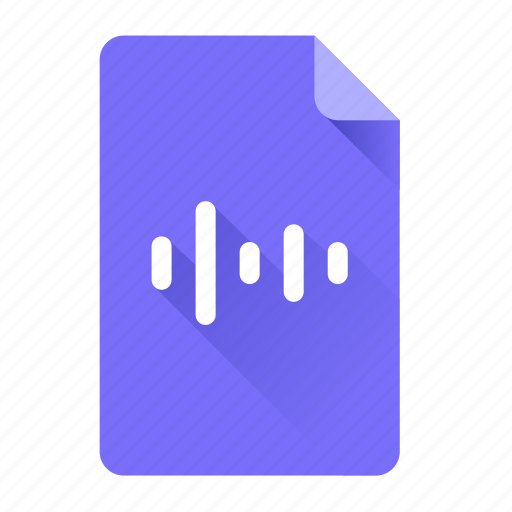 document, file, format, media, music, sound, wave icon