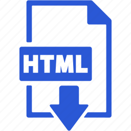 document, download, extension, file, format, html icon