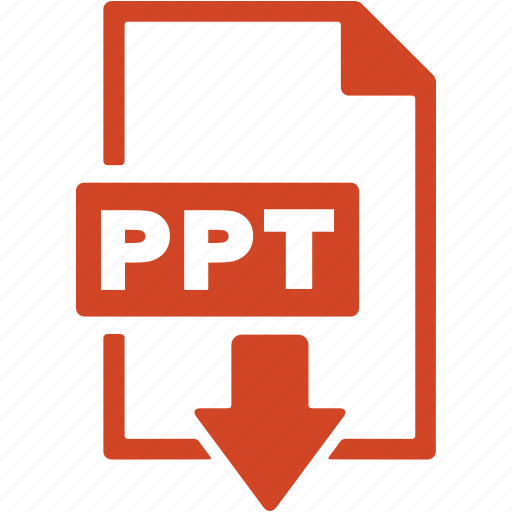 document, download, extension, file, format, ppt icon