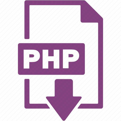 document, download, extension, file, format, php icon