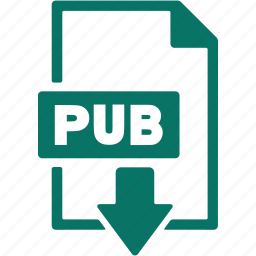 document, download, extension, file, format, pub icon