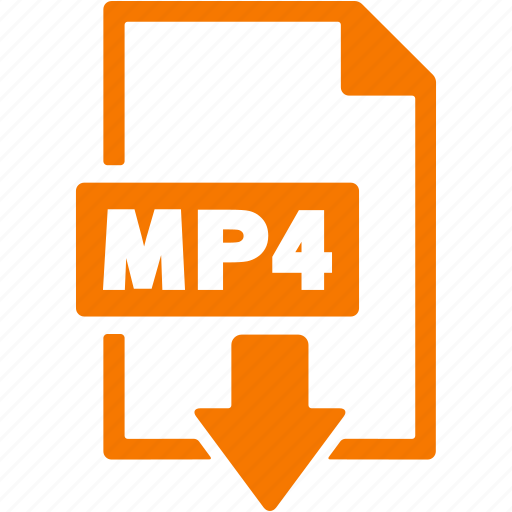 document, download, extension, file, format, mp4 icon