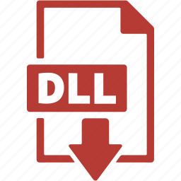 dll, document, download, extension, file, format icon