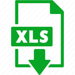 document, download, extension, file, format, xls icon