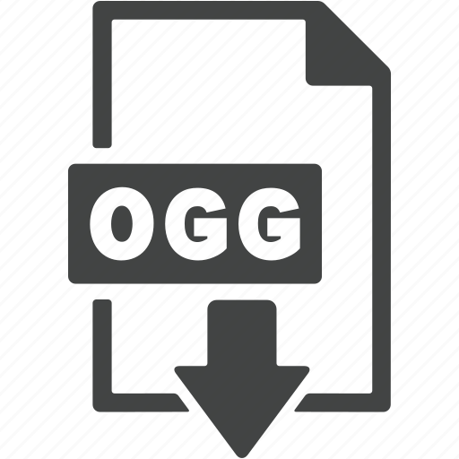 document, download, extension, file, format, ogg icon