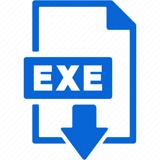 document, download, exe, extension, file, format icon