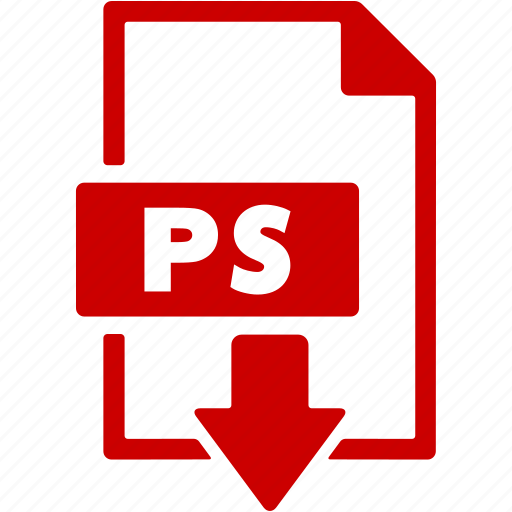 document, download, extension, file, format, ps icon