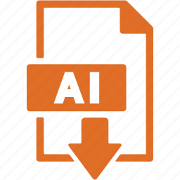 document, download, extension, file, file ai, format icon