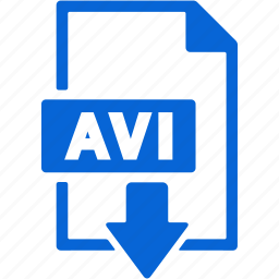 avi, document, download, extension, file, format icon
