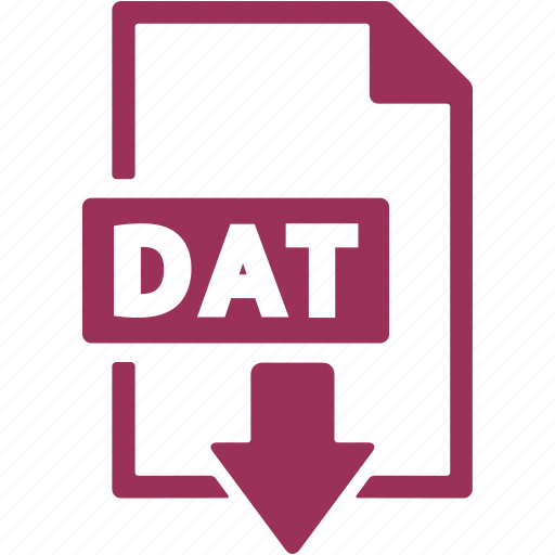 dat, data file, document, download, file, format icon