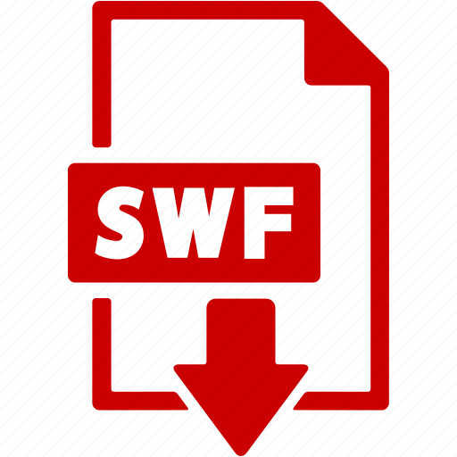 document, download, extension, file, format, swf icon
