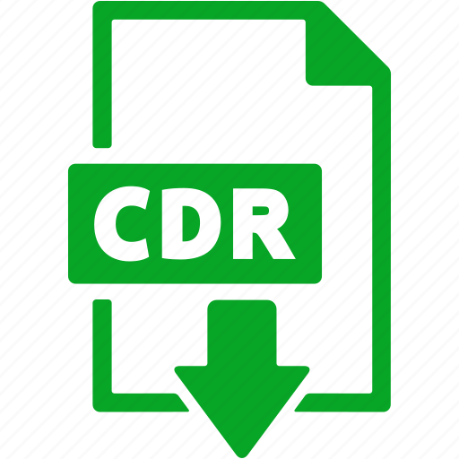 cdr, document, download, extension, file, format icon