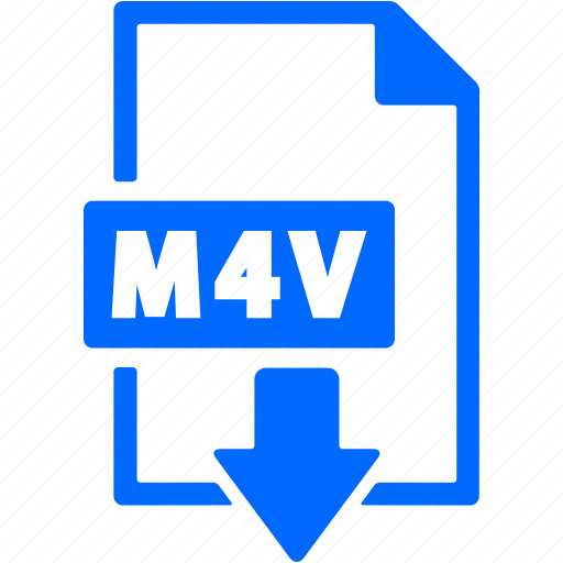 document, download, extension, file, format, m4v icon