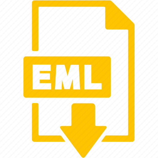 document, download, eml, extension, file, format icon