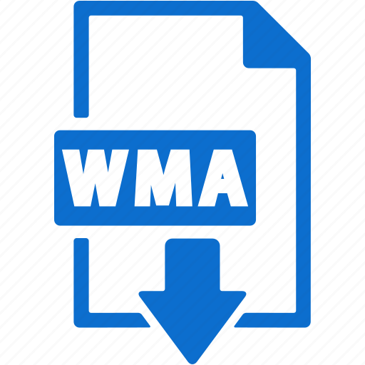 document, download, extension, file, format, wma icon