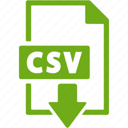 csv, document, download, extension, file, format icon