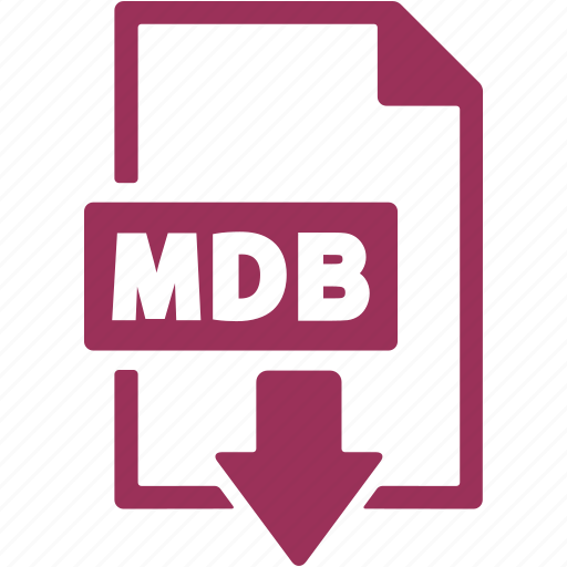 document, download, extension, file, format, mdb icon