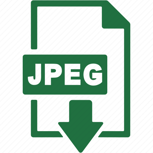 document, download, extension, file, format, jpeg icon