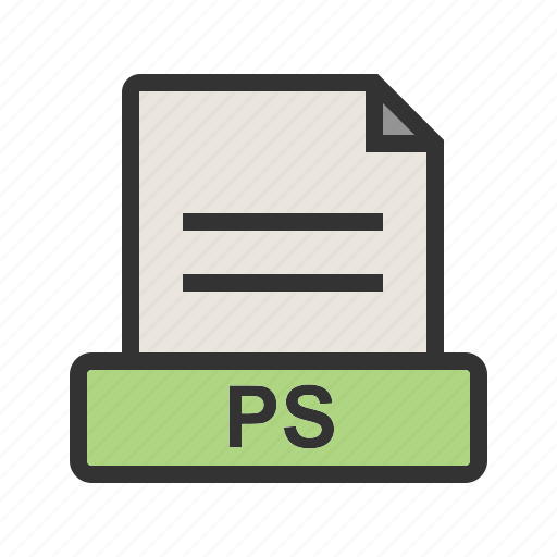 file, information, presentation, ps, template, white icon