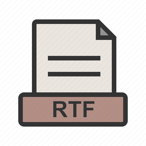 Document, extension, file, format, interface, rtf, text icon - Download on Iconfinder